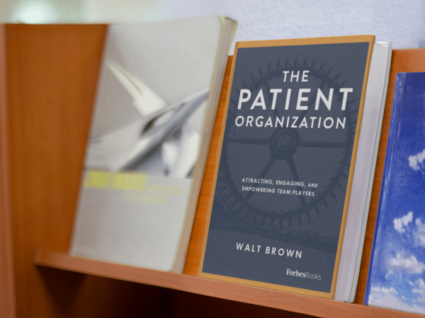 The Patient Organization on a shelf