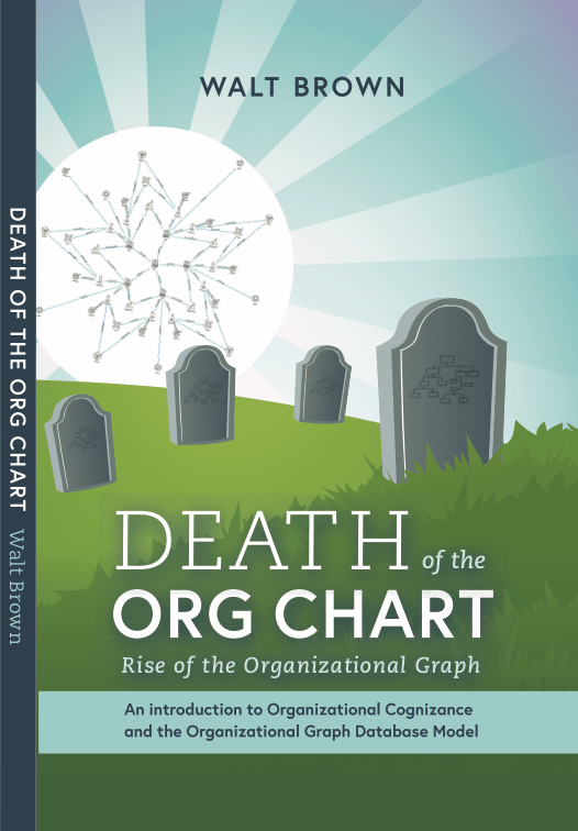 org graph Image of the cover of Walt Brown's book about organizational structure and org graphs. full title is death of the org chart, rise of the organizational graph an introduction to the org graph database model.
