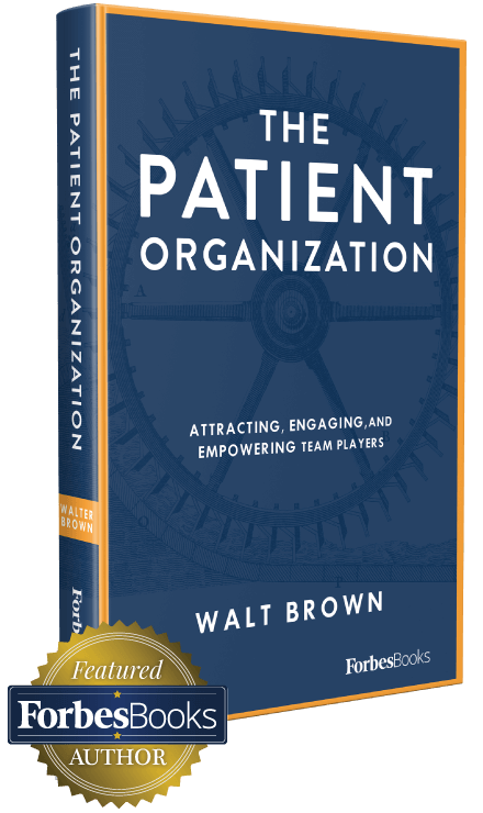 cover of the patient organization book written by walt brown