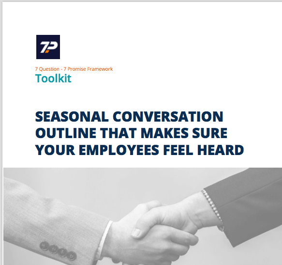 Cover of handout on the Seasonal conversation you have to drive employee engagement as part of your OES implementation men