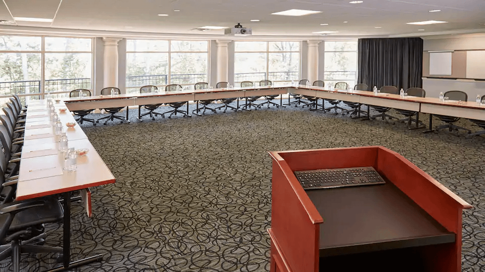image showing one of the meeting rooms we use at the rizzo center when we teach the 7q7p workshops around organizational structure, culture and organizational clarity and consistency